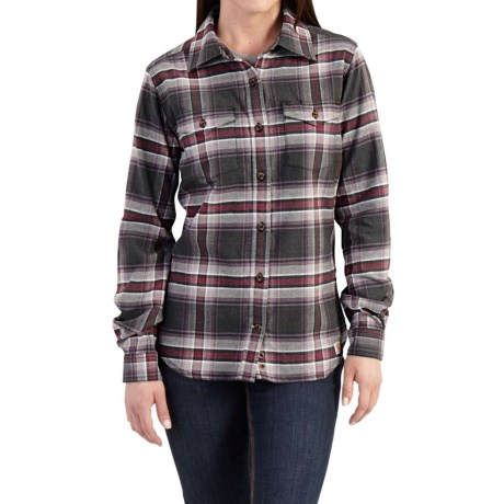 Carhartt Hamilton Flannel Shirt - Long Sleeve, Factory Seconds (For Women)