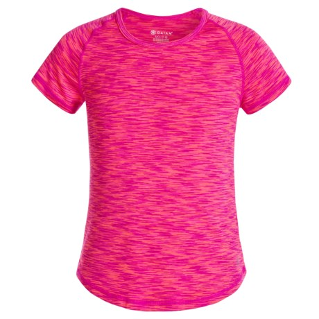Gaiam Go Girl Space-Dyed Shirt - Short Sleeve (For Big Girls)