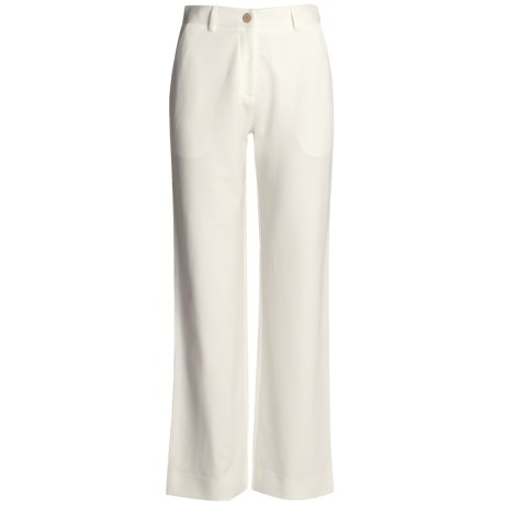 Joan Vass Tailored Knit Pants - Zip Front (For Women)