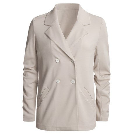 Joan Vass Double-Breasted Knit Jacket (For Women)