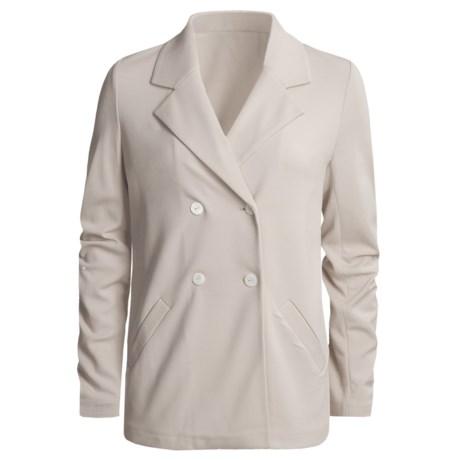 Joan Vass Double-Breasted Knit Jacket (For Women)