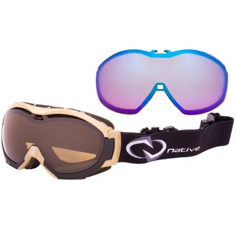 Native Eyewear Mission Snowsport Goggles - Polarized, Interchangeable Lenses