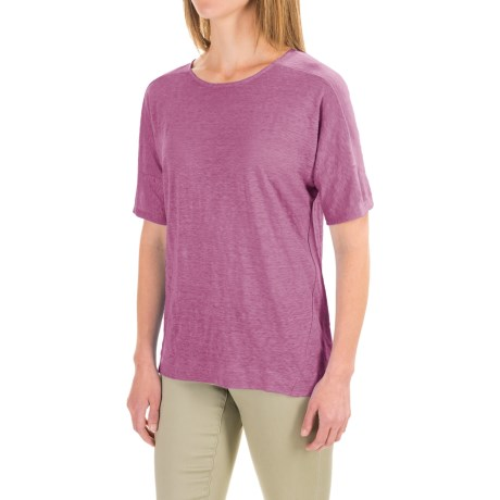 Pendleton Pieced T-Shirt - Linen, Short Sleeve (For Women)
