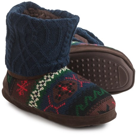 Muk Luks Patti Sweater Slippers - Fleece Lined (For Women)