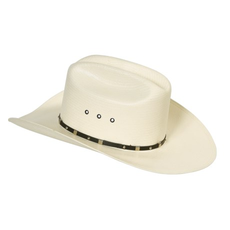 Resistol George Strait Shoot Out Cowboy Hat - 8X Straw (For Men and Women)