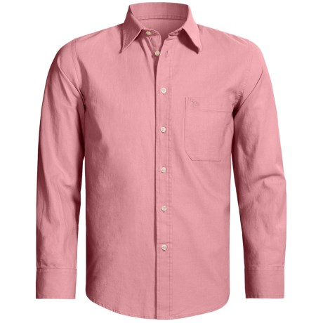 Old Taylor Sport Shirt - Cotton-Linen, Point Collar, Long Sleeve (For Men)