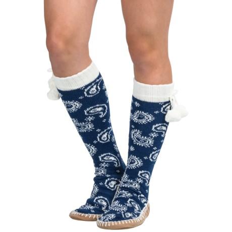 Muk Luks Sweater Slipper Socks (For Women)