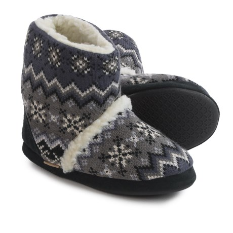 Muk Luks Zigzag Bootie Slippers - Fleece Lined (For Women)