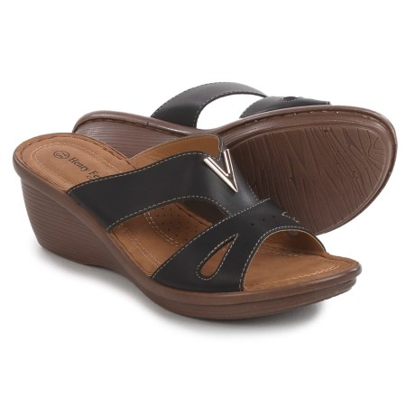 Henry Ferrera Comfort Wedge Sandals - Vegan Leather (For Women)