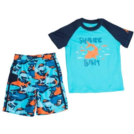 Laguna Shark Bait Shirt and Boardshorts Set - UPF 50, 2-Piece, Short Sleeve (For Little Boys)
