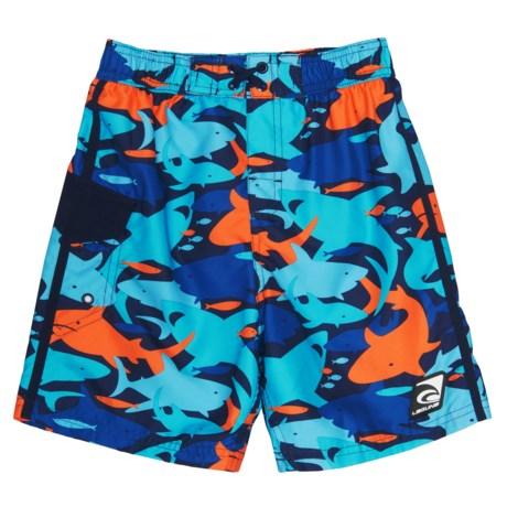 Laguna Camo Shark Swim Trunks - UPF 50 (For Little Boys)