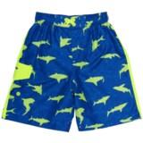 Laguna Shark Waves Eboard Boardshorts - UPF 50 (For Toddler and Little Boys)