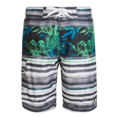 Laguna Island Stripe Eboard Swim Trunks - UPF 50 (For Big Boys)