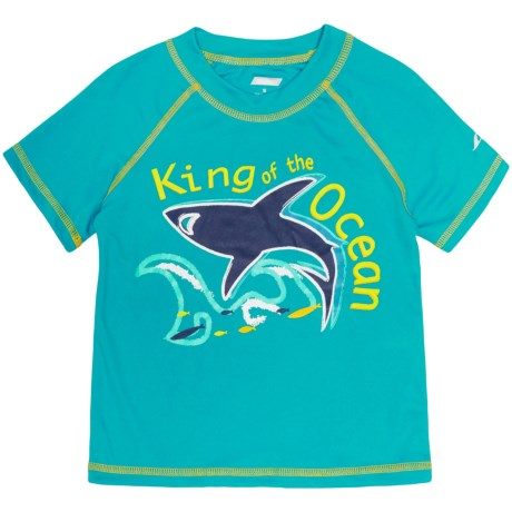 Oxide Shark Rash Guard - UPF 50, Short Sleeve (For Toddlers and Little Boys)