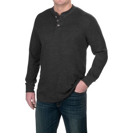 Pacific Trail Waffle-Knit Henley Shirt - Long Sleeve (For Men)