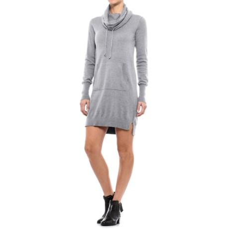 Artisan NY Kanga Pocket Sheath Dress - Cowl Neck, Long Sleeve (For Women)