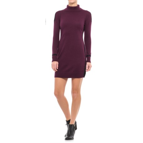 Artisan NY Contrast Detail Shift Dress - Long Sleeve (For Women)