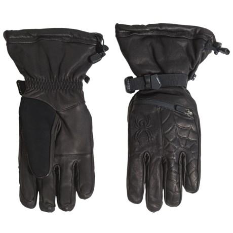 Spyder PrimaLoft® Ultraweb Leather Ski Gloves - Waterproof, Insulated (For Men)