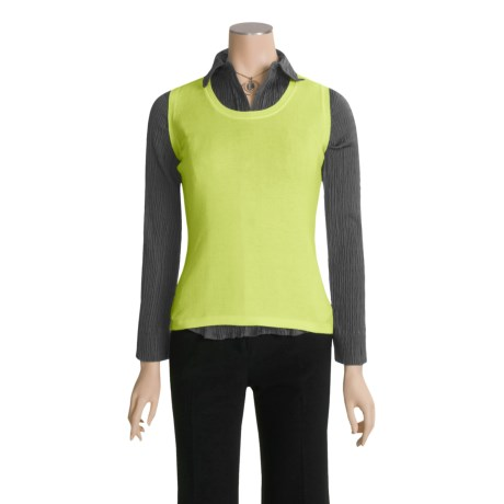Specially made Luxe Knit Shell - Sleeveless (For Women)
