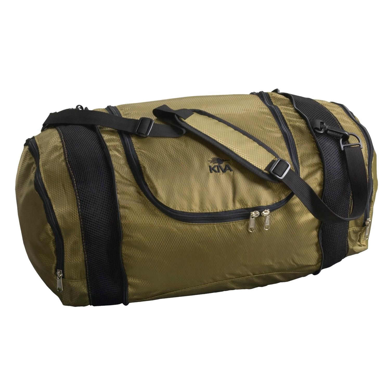 kiva designs collapsible duffel bag self storing 2354j