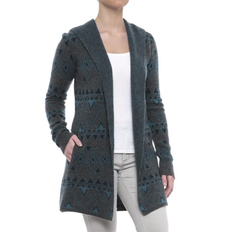 Toad&Co Merino Wool Diamond Cardigan Hoodie (For Women)
