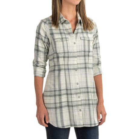 Toad&Co Lightfoot Flannel Tunic Shirt - Organic Cotton, Long Sleeve (For Women)