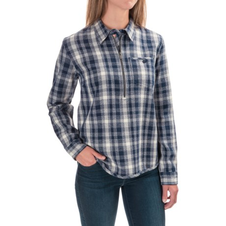 Toad&Co Bodie Organic Cotton Flannel Shirt - Zip Neck, Long Sleeve (For Women)