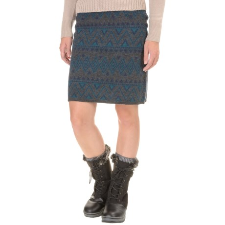 Toad&Co Diamond Sweater Skirt - Boiled Merino Wool (For Women)