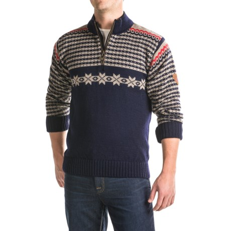 Dale of Norway Fisketorget Sweater - New Wool, Zip Neck (For Men)