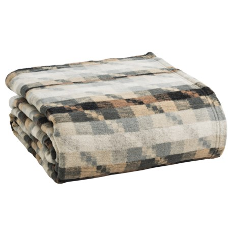 Ibena Puzzle Cornino Light Bed Blanket - Queen, Cotton-Merino Wool