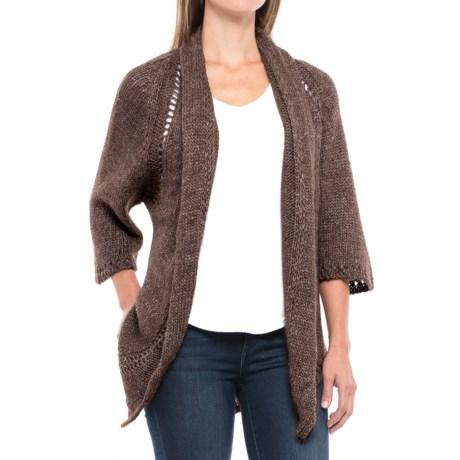 Chiaramente Crochet-Back Cardigan Sweater - 3/4 Sleeve (For Women)