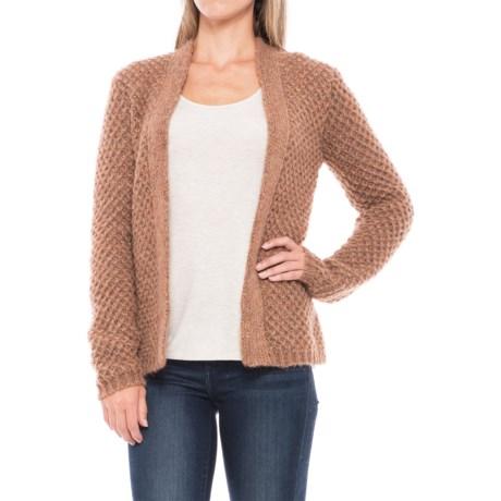 Lineamaglia Mohair Rib-Stitch Cardigan Sweater (For Women)