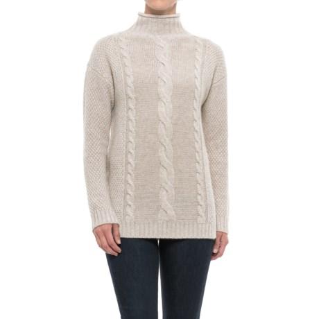 Mantovani Studios Multi-Stitch Cashmere Turtleneck Sweater (For Women)
