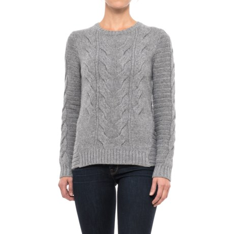 Mantovani Studios Ribbed and Cable-Knit Cashmere Sweater (For Women)