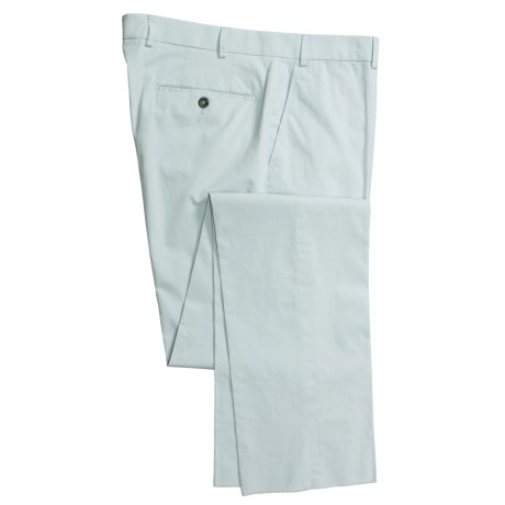 Hiltl Enzyme-Washed Pants - Stretch Cotton, Flat Front (For Men)