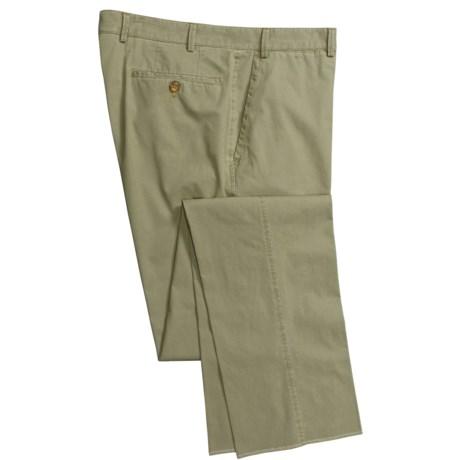 Hiltl Giza Cotton Poplin Pants - Stretch, Flat Front (For Men)