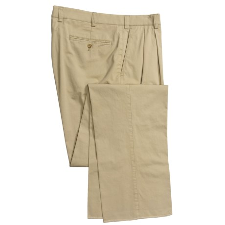 Hiltl Nano Bionic Giza Pants - Stretch Cotton, Double-Reverse Pleats (For Men)