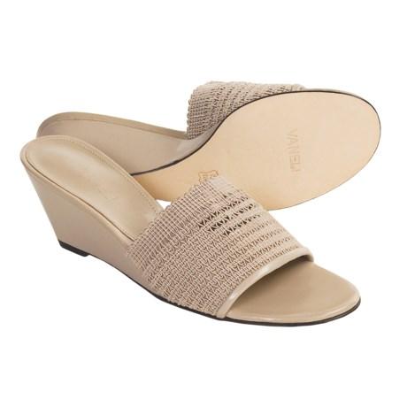 Vaneli Quark Terra Accordion Sandals - Wedge Heel (For Women)