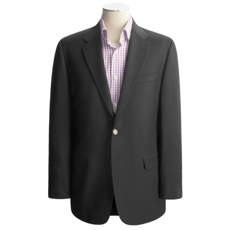 Hickey Freeman Worsted Wool Blazer - Brass Buttons (For Men)