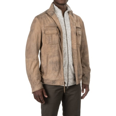 Scully Shadow Suede Coat - Lambskin (For Men)