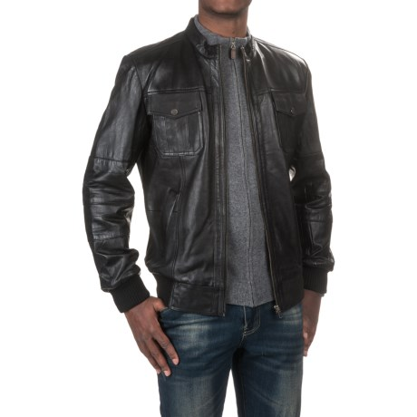 Scully Lamb Leather Bomber Jacket (For Men)