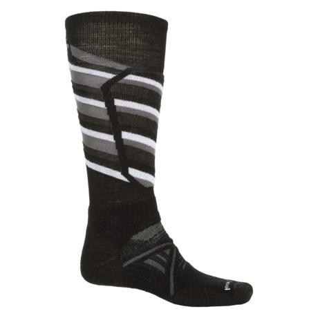 SmartWool PhD Ski Midweight Pattern Socks - Merino Wool, Over The Calf (For Men and Women)