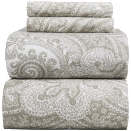 Wulfing Dormisette Heavyweight Luxury Flannel Paisley Sheet Set - King