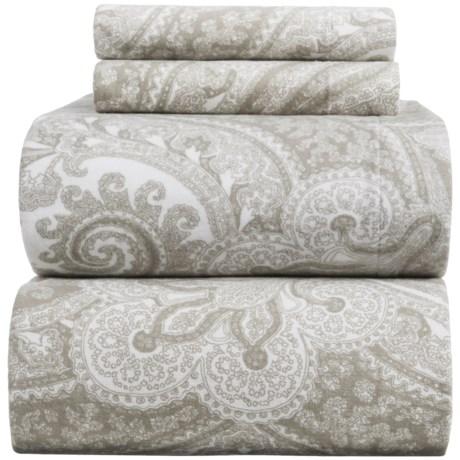 Wulfing Dormisette Heavyweight Luxury Flannel Paisley Sheet Set - King