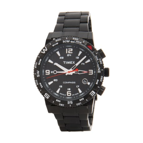 Timex Intelligent Quartz Adventure Series Chronograph Watch - Stainless Steel Bracelet (For Men)