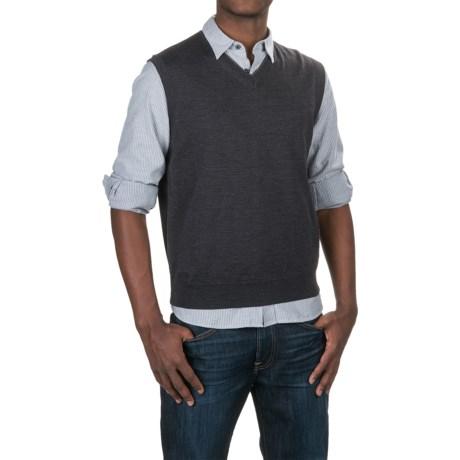 Aqua by Toscano V-Neck Sweater Vest (For Men)
