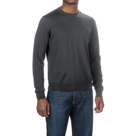 Aqua by Toscano Wool Sweater - Crew Neck (For Men)