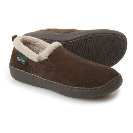 Woolrich Buck Run Slippers - Suede, Fleece Lined (For Men)