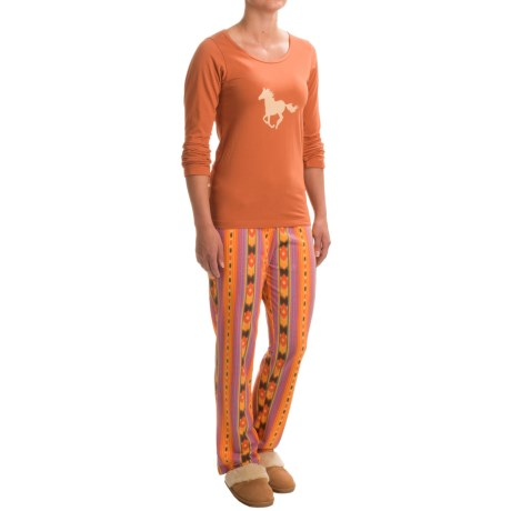 Aegean Apparel Southwestern Pajamas - Long Sleeve (For Women)