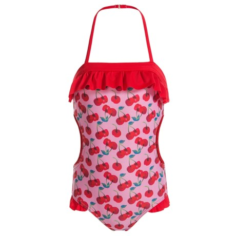 Jantzen Cherries Cutout Swimsuit - UPF 50+ (For Little Girls)